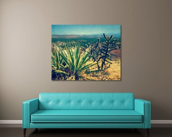 Cactus Art, Southwestern Wall Art, New Mexico Landscape Photography, Cactus Canvas Art, Southwestern Decor, Cactus Photography, Large Art