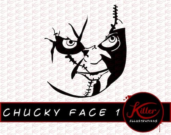 Chucky Face 1 Vector Childs Play Clip Art Horrorr Cut