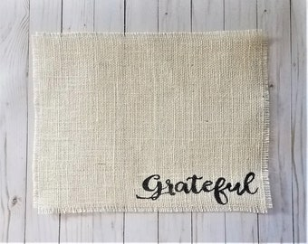 Farmhouse Placemats, Burlap Place Mats, Rustic Table Decor, Cream Burlap Table Mats, Frayed Placemat, Ivory Place Setting, Housewarming Gift