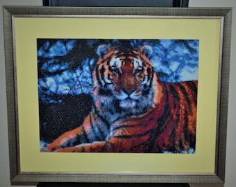 "Diamond embroidery ""Tiger"""