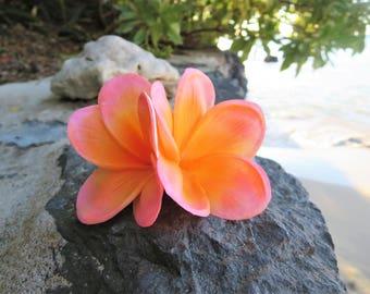 Tropical Hair Flower, Moana Hair Flower, Plumeria, Hawaii, Hair Clip, Bridesmaids, Hair Accessory, Pin Up, Tropical, Tiki, Luau, Wedding