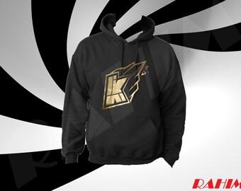Kwebbelkop logo limited edition gold, youtuber,   Adult  Hoodie