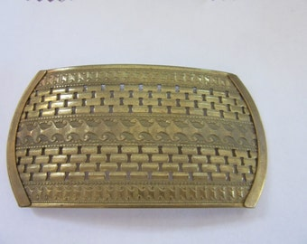 """One pc USA  Raw  Brass 2""""x4"""" BUCKLE, VB 801,concave brass finding. brass supply, jewelry findings, finished jewelry, deco,"""