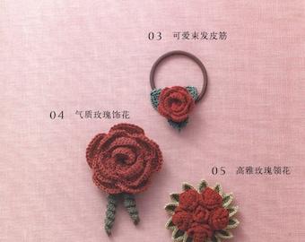 36 Rose Motifs Patterns - Rose Crochet Patterns - Rose Motifs Crochet - Motif Crochet Patterns - Japanese ebook - PDF - instant download