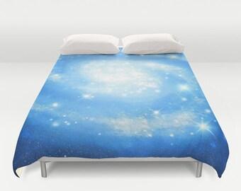 Blue Space Duvet Cover King Size Bed cover King Duvet Queen Duvet Full Duvet Twin Duvet Nebula Duvet Stars Duvet cover Blue Nebula 88x88
