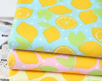 Waterproof Cotton Blend Fabric Lemon in 3 Colors By The Yard