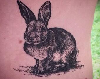 Bunny Temporary Tattoo