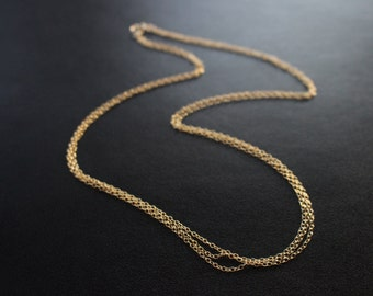 Multistrand Chain Necklace, Simple Layering Necklace, Short or Long Multistrand Necklace, Delicate Gold Necklace, Sterling Silver Necklace
