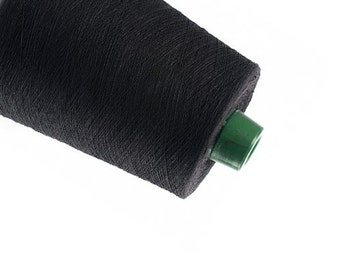 Black Linen yarn High quality natural linen  thread flax 1ply 2ply  3ply yarn