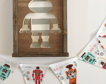 Robot Banner. Robot Party. Robot Birthday Banner. Robot Room Banner. Robot Pennant Banner. Robot Bunting Birthday. Robot Party Decor