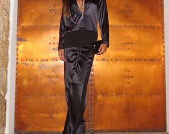 100% Silk pajamas/ White pajamas/ Satin pajamas/ Bridal Pajama/ Bridal Lingerie/ Bridal Sleepwear/ Silk Sleepwear/