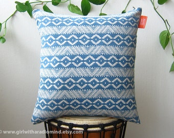 Denim Throw Pillow Light Blue Navajo - Geometric South Western Accent Cushion Cover