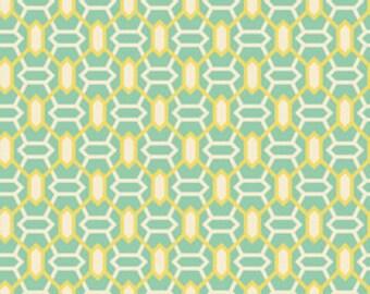 Fabric by the Yard -- Heirloom Marquis in Jade by Joel Dewberry - 1 yard