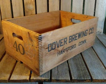 Dover Brewing Co Wood Crate