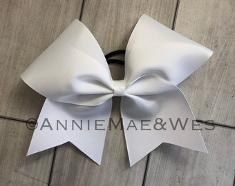 Cheer Bow Softball Bow - black white silver gray red blue navy gold black green purple silver solid plain practice bow