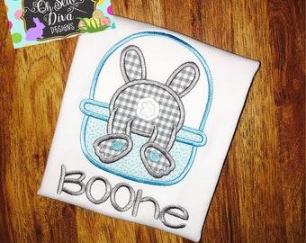 Boy's Easter Bunny Fluffy Tail Appliqué Shirt or Bodysuit