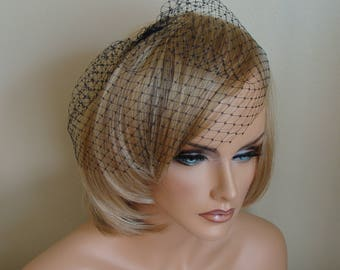 Black Birdcage Veil Russian French Net Veil