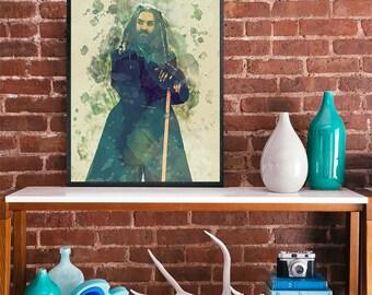 The king The walking dead Ezekiel art poster