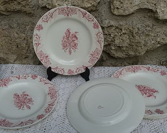 6 dinner plates Lunéville 19th KG / Antique French