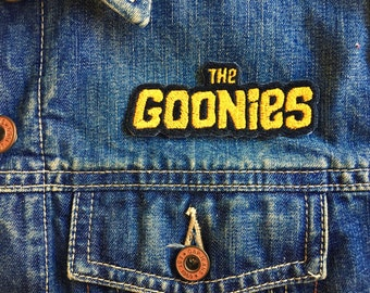 80s The Goonies Logo Iron-on Embroidered patch