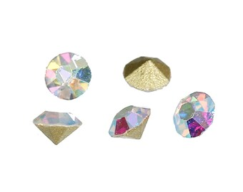 SS8 AB Rainbow Rhinestones x 500 Pcs Aurora Borealis 2 mm AB white or clear rainbow 2mm Pointed Back Rhinestone Crystal 500 pieces