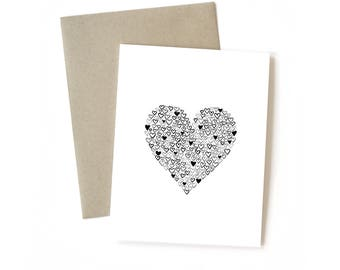 Full of Love | Card || Greeting Card | Love Card | Anniversary Card | Wife Card | Shower Card | Baby Card | Boyfriend Card | Husband Card