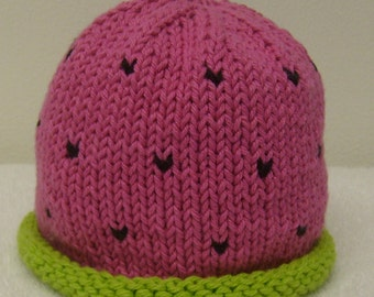 Hand Knitted Watermelon Hat