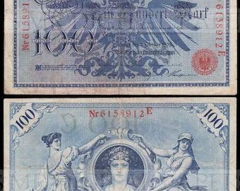German Reichnote / Germany Money / Digital Paper / German Currency / Antique Money / Antique Ephemera  / Digital Instant Download
