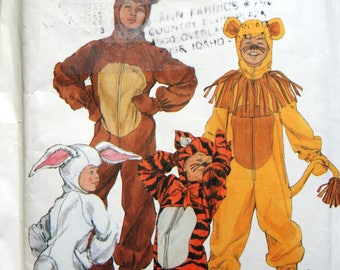 Boys' And Girls' Animal Costumes Sizes 2 Through 12 Simplicity Costumes 9808 Uncut Sewing Pattern 2001