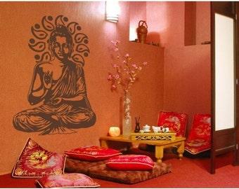 Buddha wall decal, sticker, mural, vinyl wall art