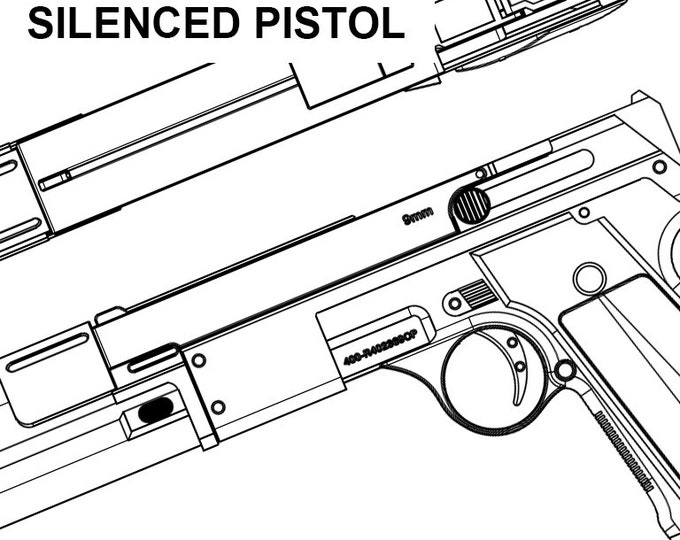 Sluka industries prey silenced pistol ppn 9 blueprint malvernweather Gallery