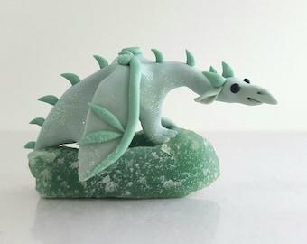 Green Dragon Sculpture- Collectible figurine, fantasy miniature