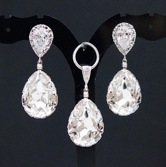 Bridal Jewelry Set Swarovski Crystal Jewelry Set Wedding
