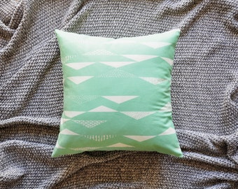 Triangle Cushion Cover, Throw Pillow Cover, Throw Cushion Cover, Decorative Cushion Cover, Decorative Pillow Cover - Geometric Mint