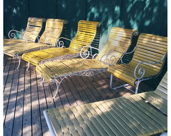 Retro Photograph - Fine Art Print - Home Decor - Lounge #1 - Alicia Bock-Michigan Art - Vintage Style - Yellow Art - Vintage Decor-Retro Art