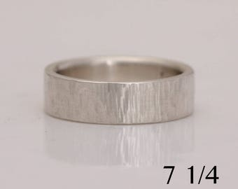 Hammered silver band, size 7 1/4 ready to ship, also custom sizes,  #785