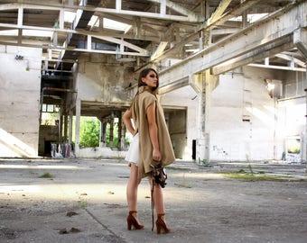 Open Back Blazer, Sleeveless, Cutted Back Panel, Vest, Avant Garde, Woman Clothing