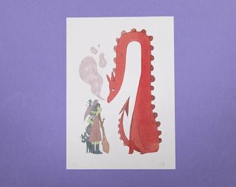 Dragon A4 Print