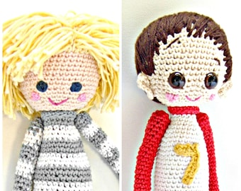 2- Crochet Pattern Special Deal, Buy the Crochet Doll Lars Pattern and the Crochet Doll Dani Pattern for Euro 10.00, Amigurumi Pattern