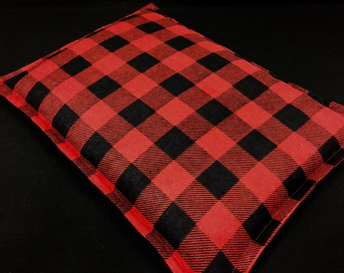 Large Flannel Corn Bag, Corn Heating Pad, Cabin Bed Warmer, Relaxation Gift, Microwave Heat, Hot Cold Pack, Gift For Him, Dorm Room