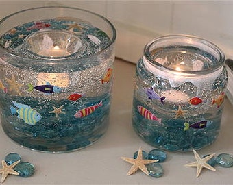 Under the Sea Candle Holder, Reusable (Jar), Just add a tealight and watch me glow!