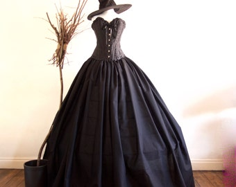 Halloween Adult Evil Witch Costume, includes Free Witches Hat Various sizes