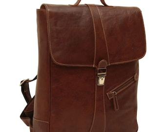 Leather Backpack/Laptop Backpack/13 inch Laptop/Handmade Backpack/Italian Leather/Made In Italy -  SKU: 4051CA