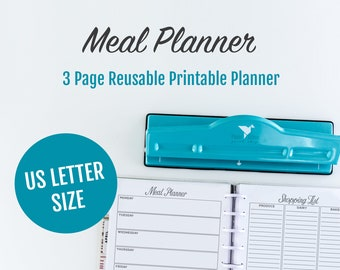Bullet Journal Meal Planning, Meal Planning, Organize List PDF, Meal Planning Calendar, Daily Meal Planner, Meal Planning Insert, Weekly