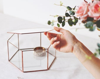 Bridesmaid Gift Box, Treasure Box, Geometric Jewelry Box, Stained Glass Display Box, Makeup Storage, Wedding Photo Box, Lidded Keepsake Box
