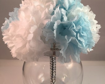 Confirmation Centerpiece- Bridal Shower Centerpiece - First Communion Centerpiece - Baptism Centerpiece - Wedding Centerpiece