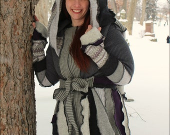 """Custom Fairy Coat of Purple and Grey """"Every Rose has a Thorn"""""""