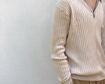 hugo boss ribbed sweater