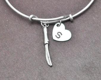 Knife Bangle, Sterling Silver Bangle, Knife Bracelet, Bridesmaid Gift, Personalized Bracelet, Initial Bracelet, Bridesmaid Gift