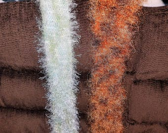 Eyelash Yarn Scarves